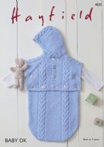 Hayfield Baby DK - 4835 Sleeping Bag Knitting Pattern
